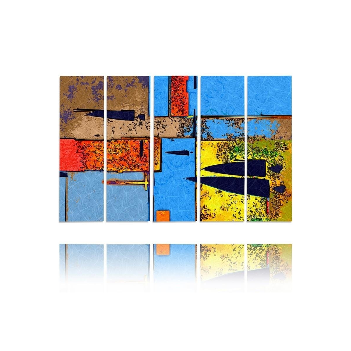 Five Part Picture On Canvas, Pentaptych, Type C, Perverse100x150