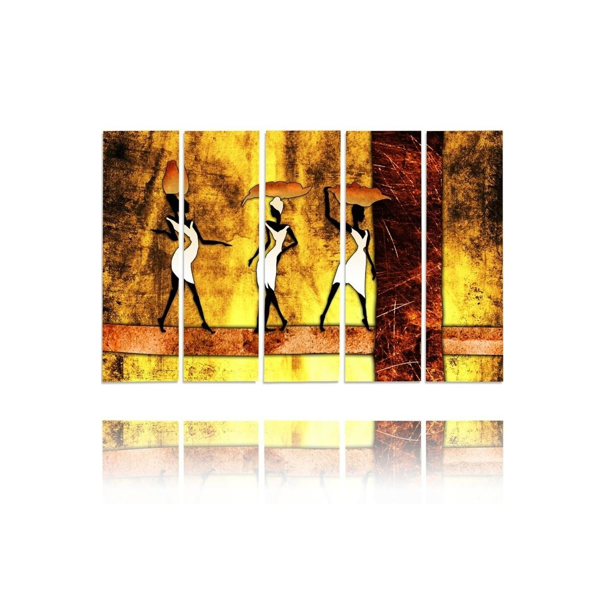 Five Part Picture On Canvas, Pentaptych, Type C, Three Graces 1 100x150