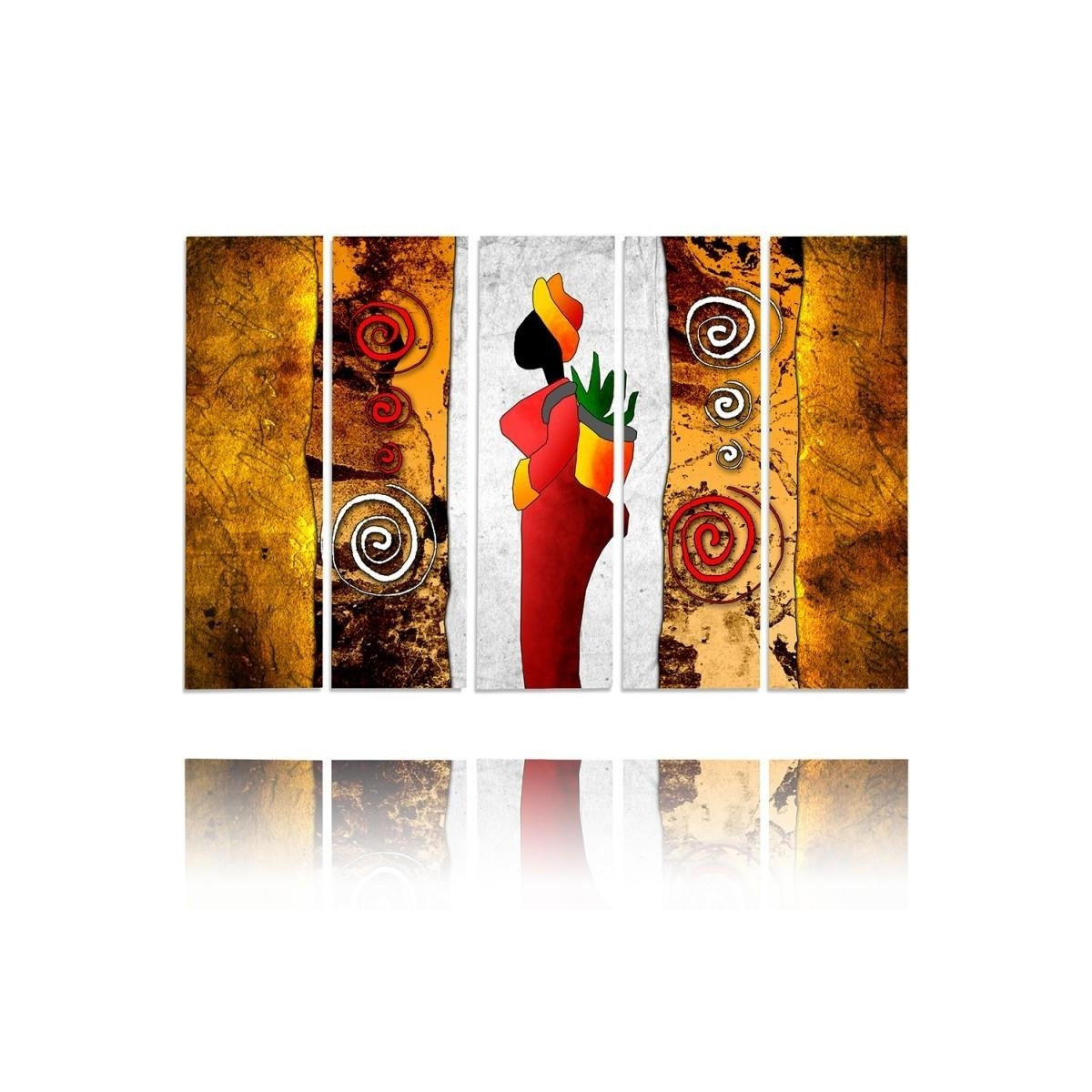 Five Part Picture On Canvas, Pentaptych, Type C, Color Lady100x150