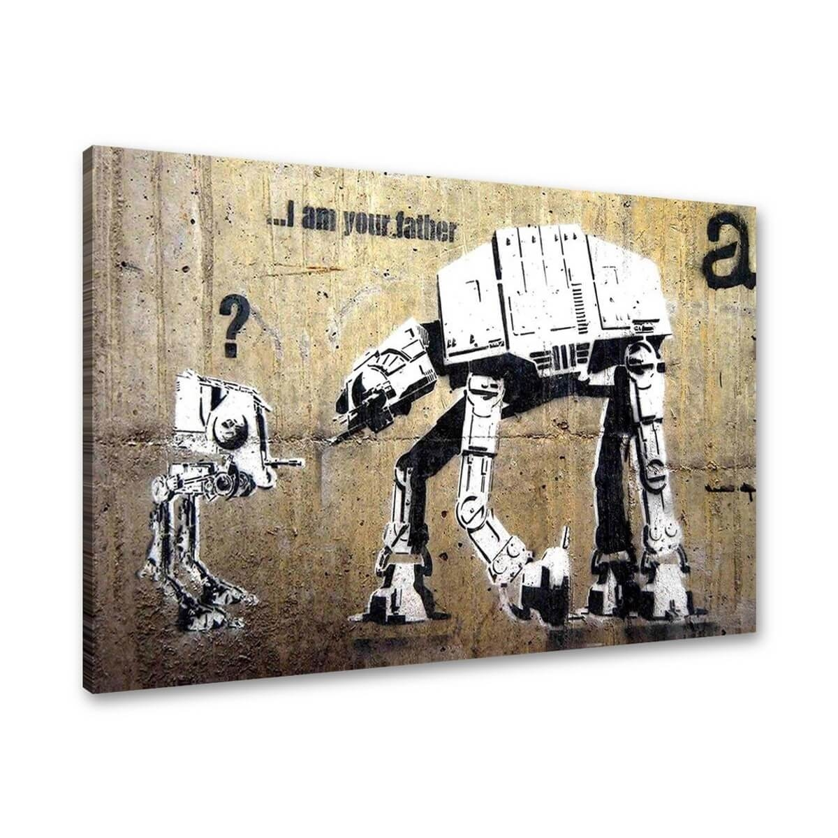 Tablou canvas graffiti arta stradala banksy i am your father pentru decor,  rama lemn, 80x60cm,  VSR4168
