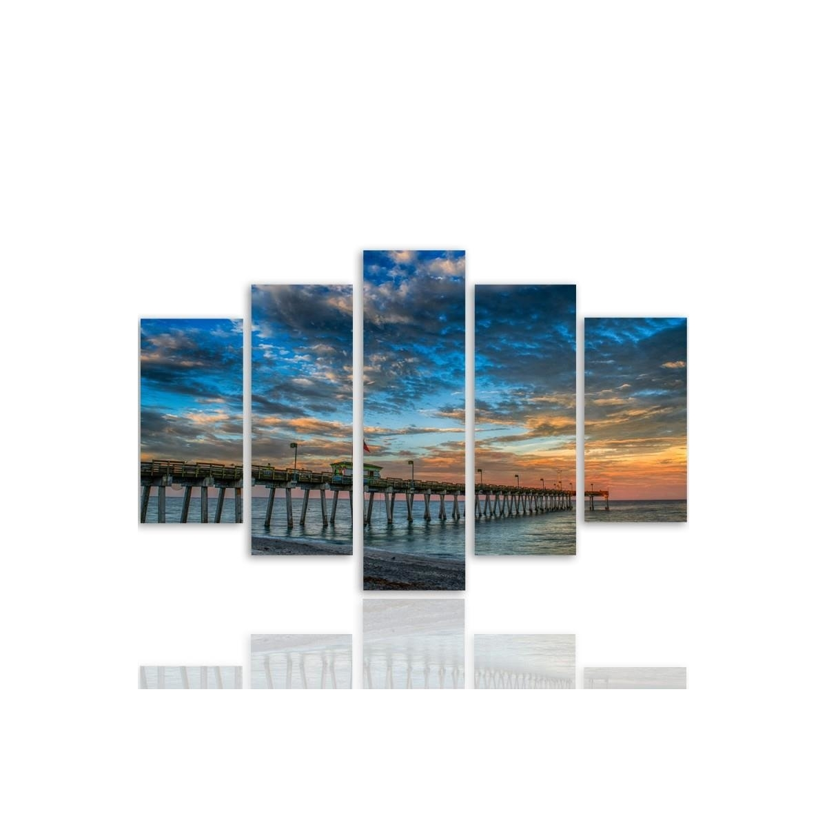 Five Part Picture On Canvas, Pentaptych, Type A, Pier 2 100x150