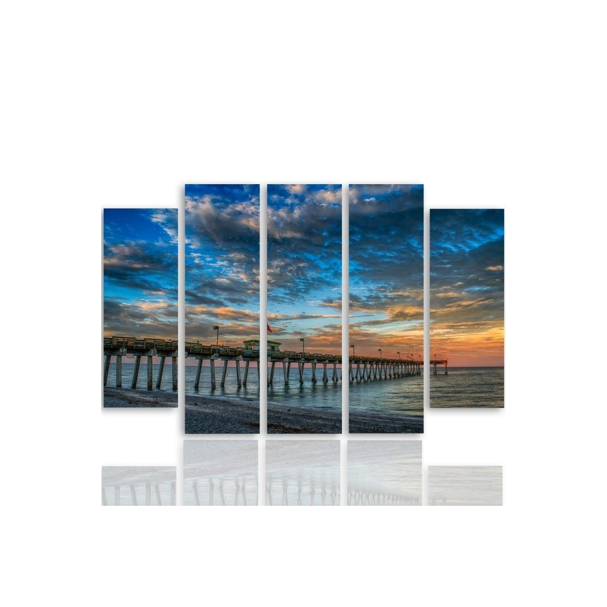 Five Part Picture On Canvas, Pentaptych, Type B, Pier 2 100x150