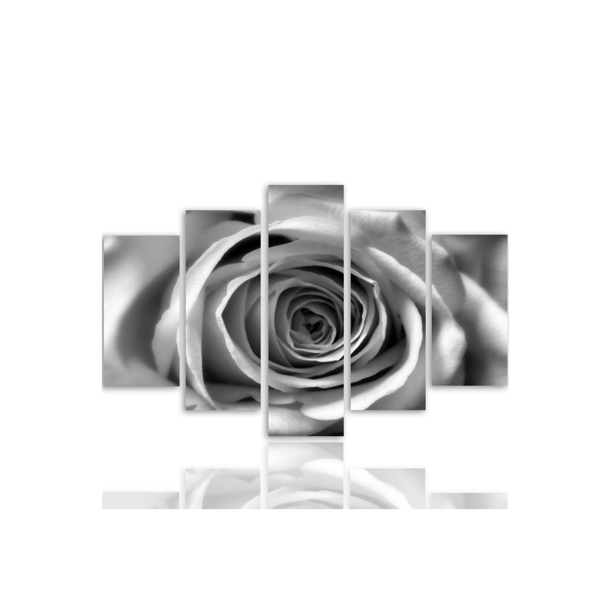 Five Part Picture On Canvas, Pentaptych, Type A, Rose Flower100x150