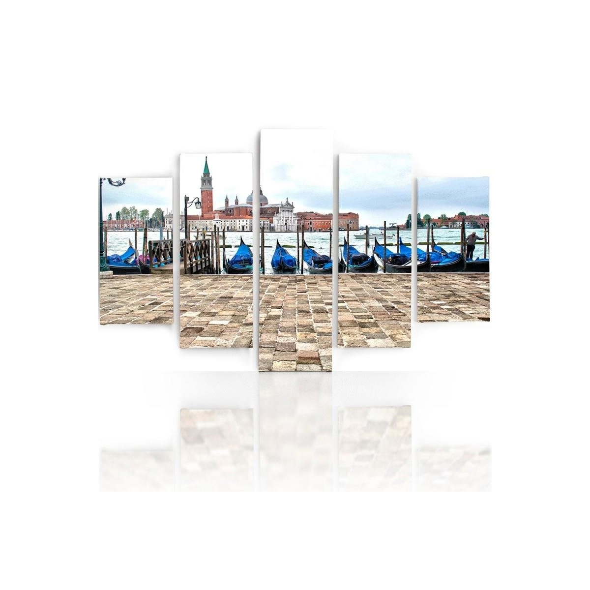 Five Part Picture On Canvas, Pentaptych, Type A, Panorama Of Venice100x150