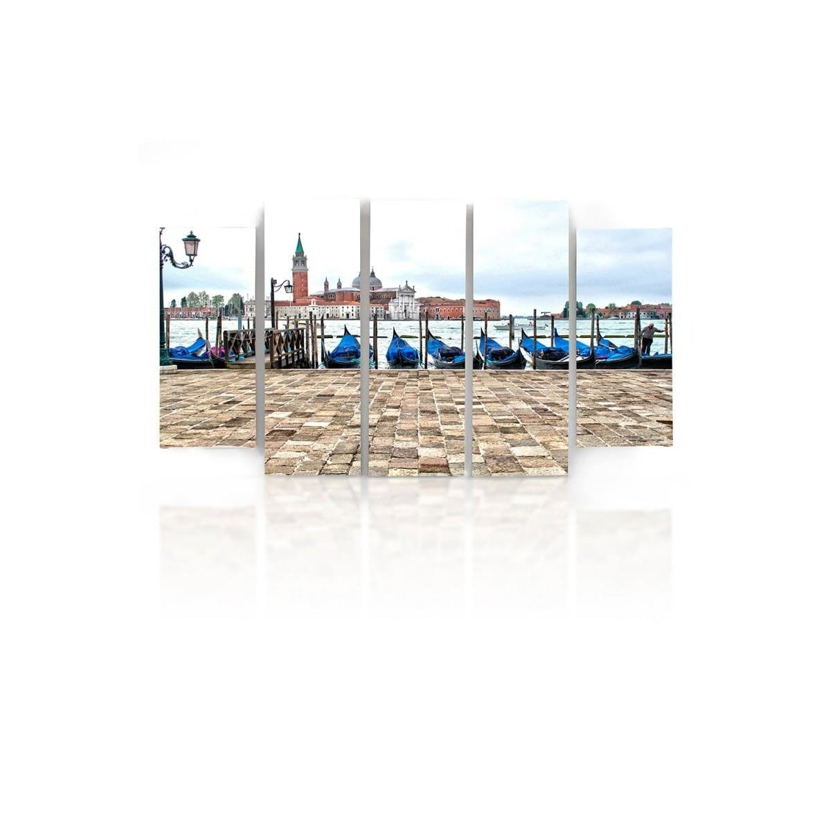 Five Part Picture On Canvas, Pentaptych, Type B, Venice Panorama100x150