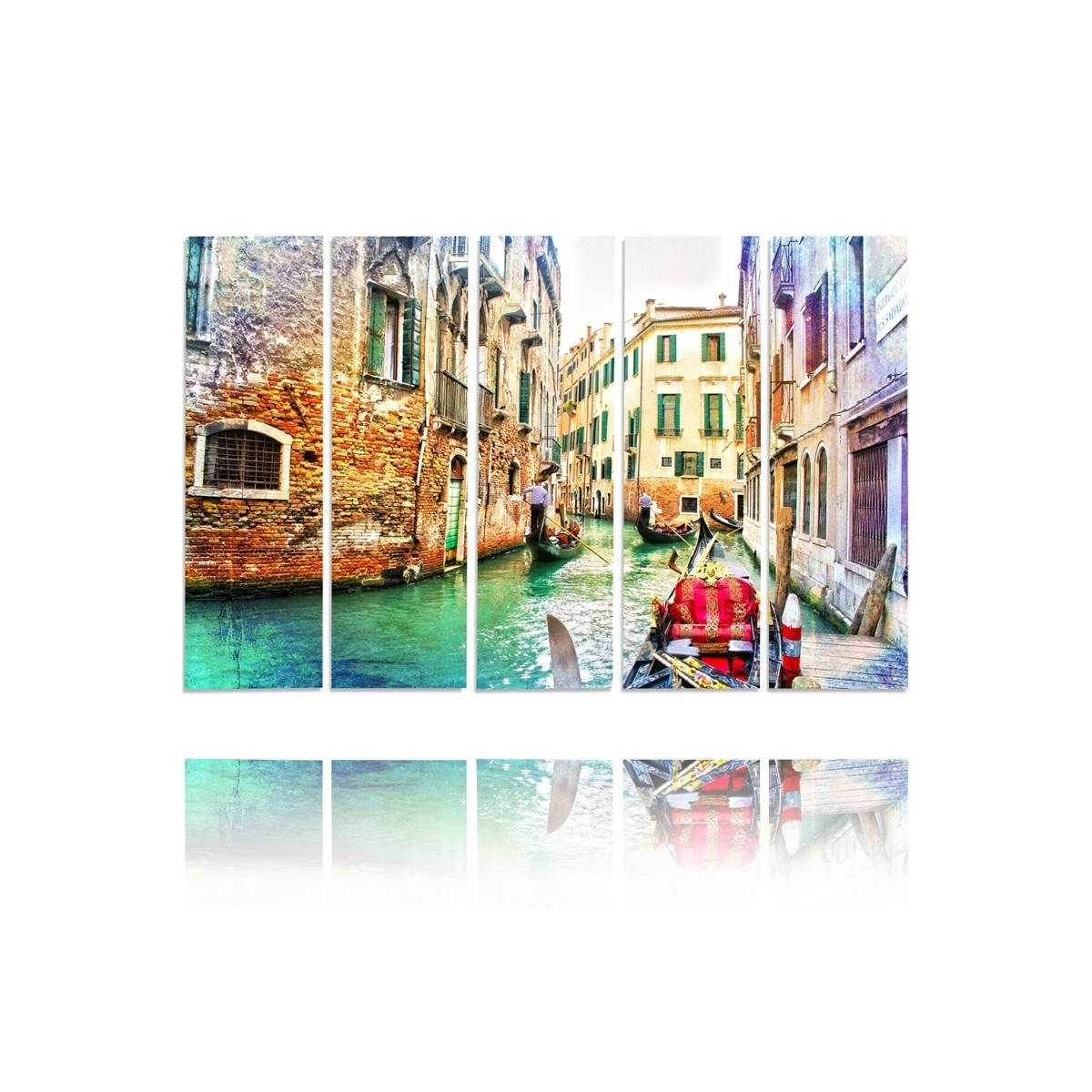 Five Part Picture On Canvas, Pentaptych, Type C, Venice 1100x150