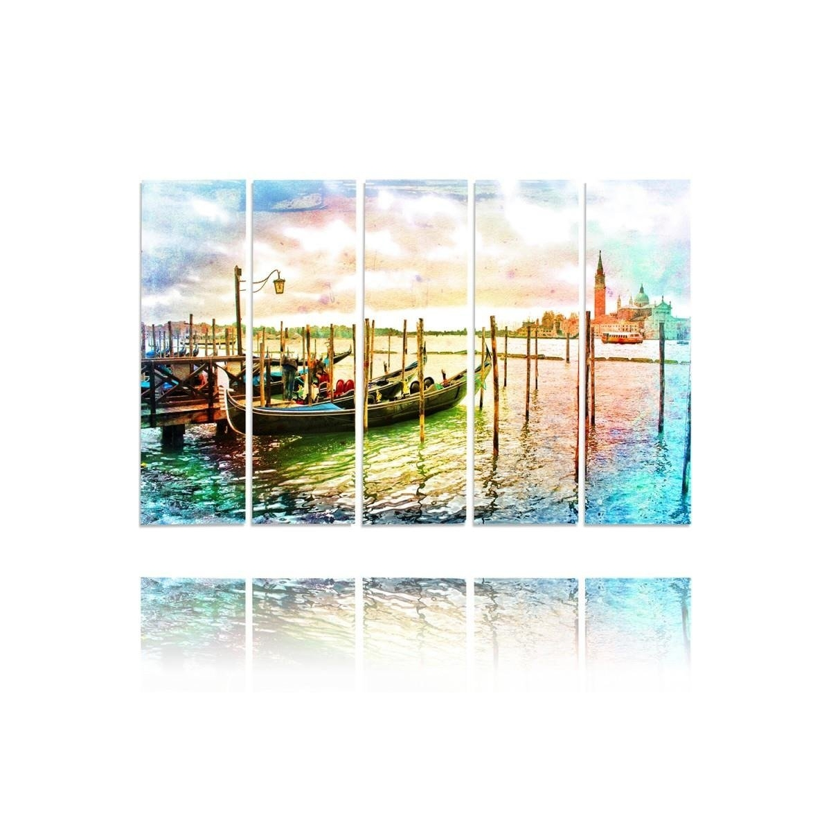 Five Part Picture On Canvas, Pentaptych, Type C, Venice100x150