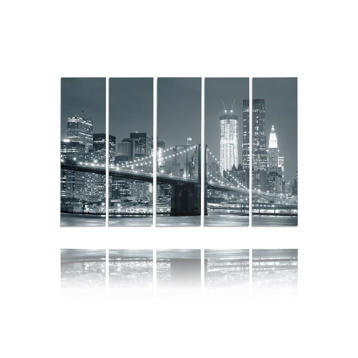Five Part Picture On Canvas, Pentaptych, Type C, Bridge 100x150