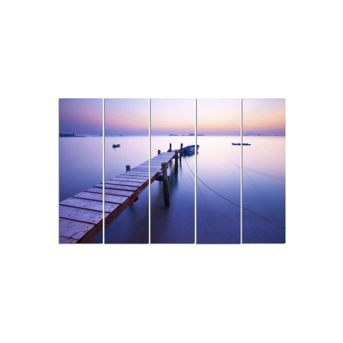 Five Part Picture On Canvas, Pentaptych, Type C, Sunrise Along The Coast100x150