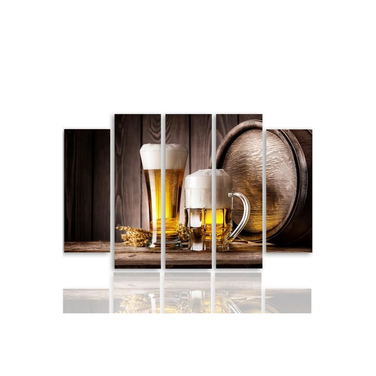 Five Part Picture On Canvas, Pentaptych, Type B, Beer100x150