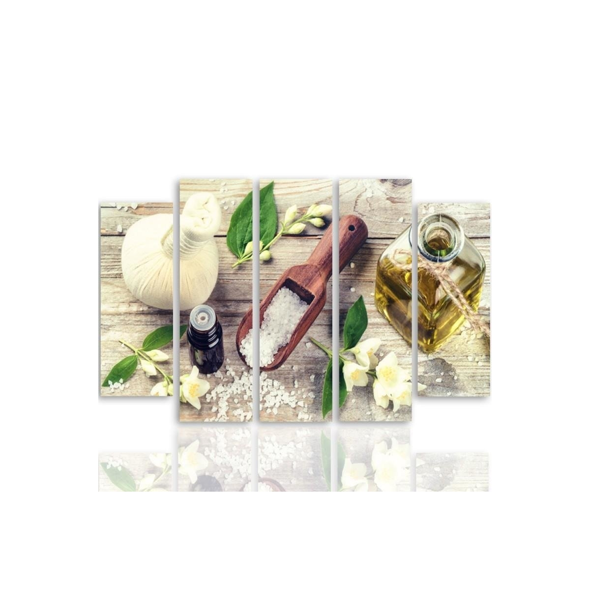 Five Part Picture On Canvas, Pentaptych, Type B, With Jasmine Spices100x150