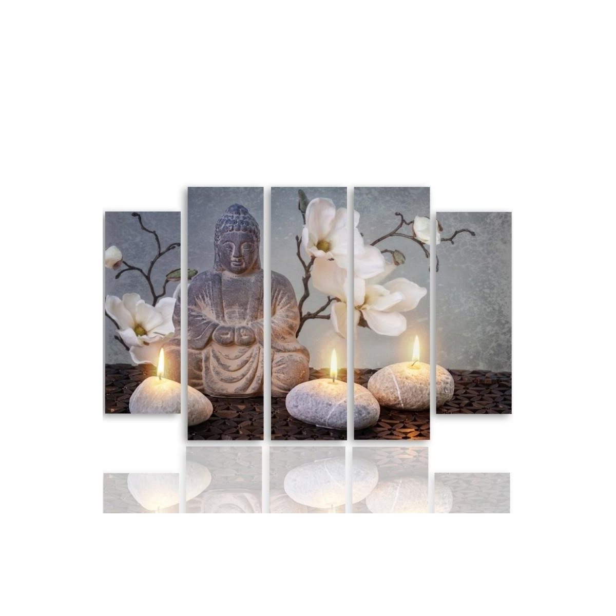 Five Part Picture On Canvas, Pentaptych, Type B, Buddha100x150