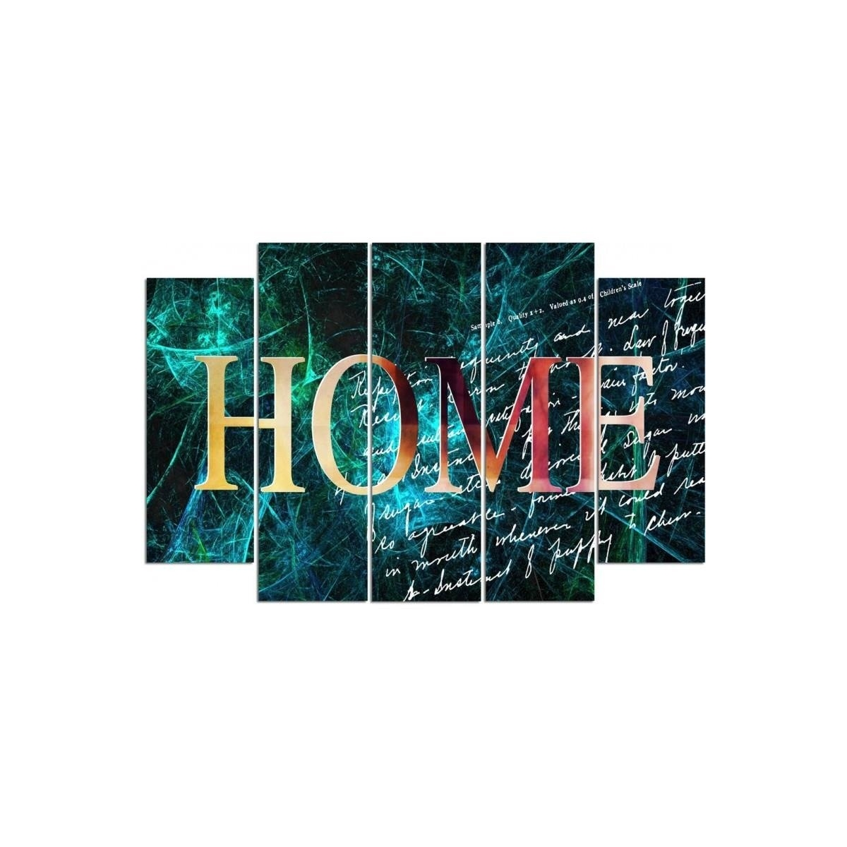 Five Part Picture On Canvas, Pentaptych, Type B, 4 Home100x150