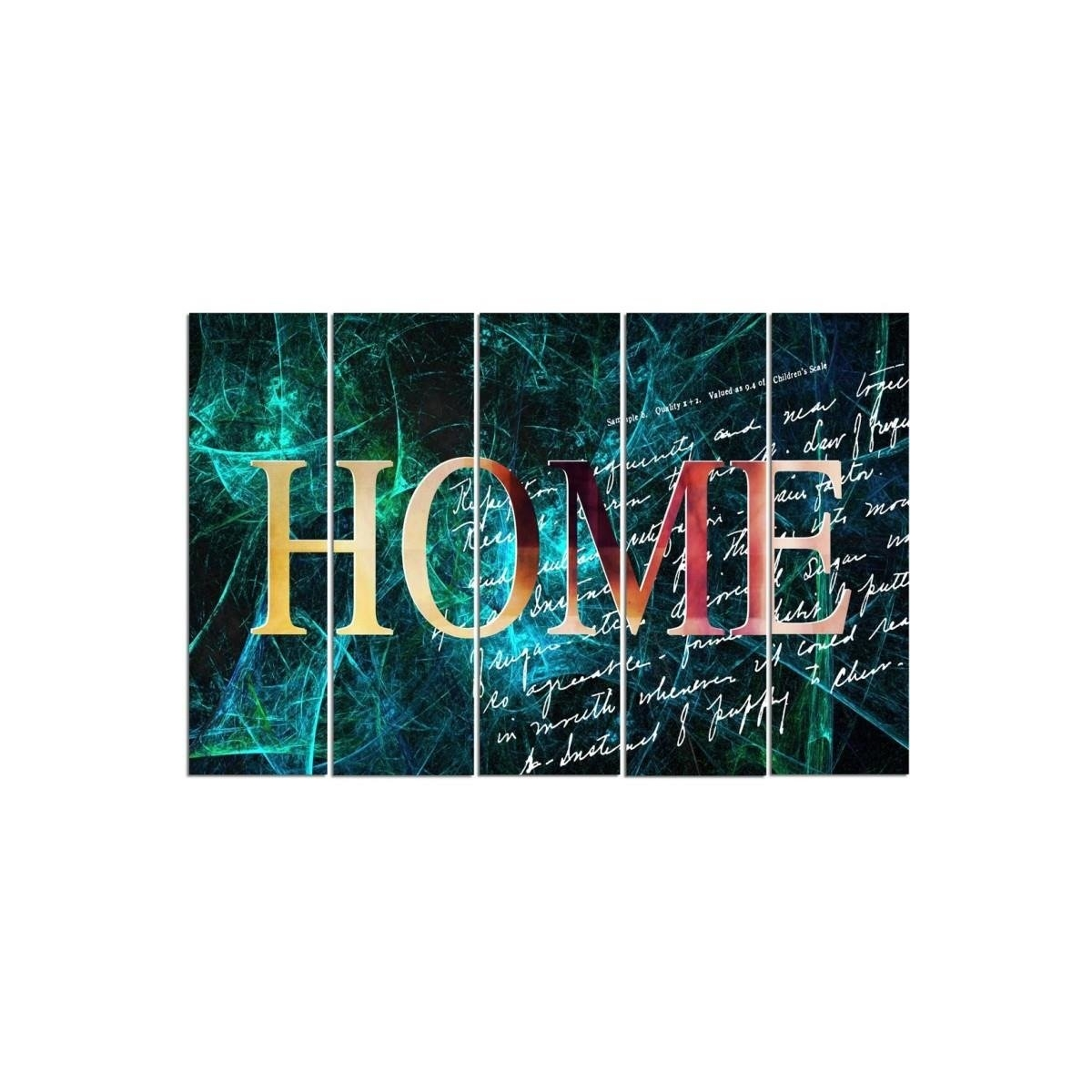 Five Part Picture On Canvas, Pentaptych, Type C, 4 Home100x150