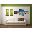 Tablou canvas monumente celebre city lights brooklyn bridge new york pentru decor modern, set 4 piese, 160x70cm VSR6525